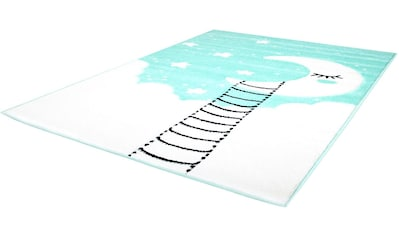 Carpet City Kinderteppich »Bueno Kids 1314«, rechteckig, 13 mm Höhe, Mond Sterne,... kaufen