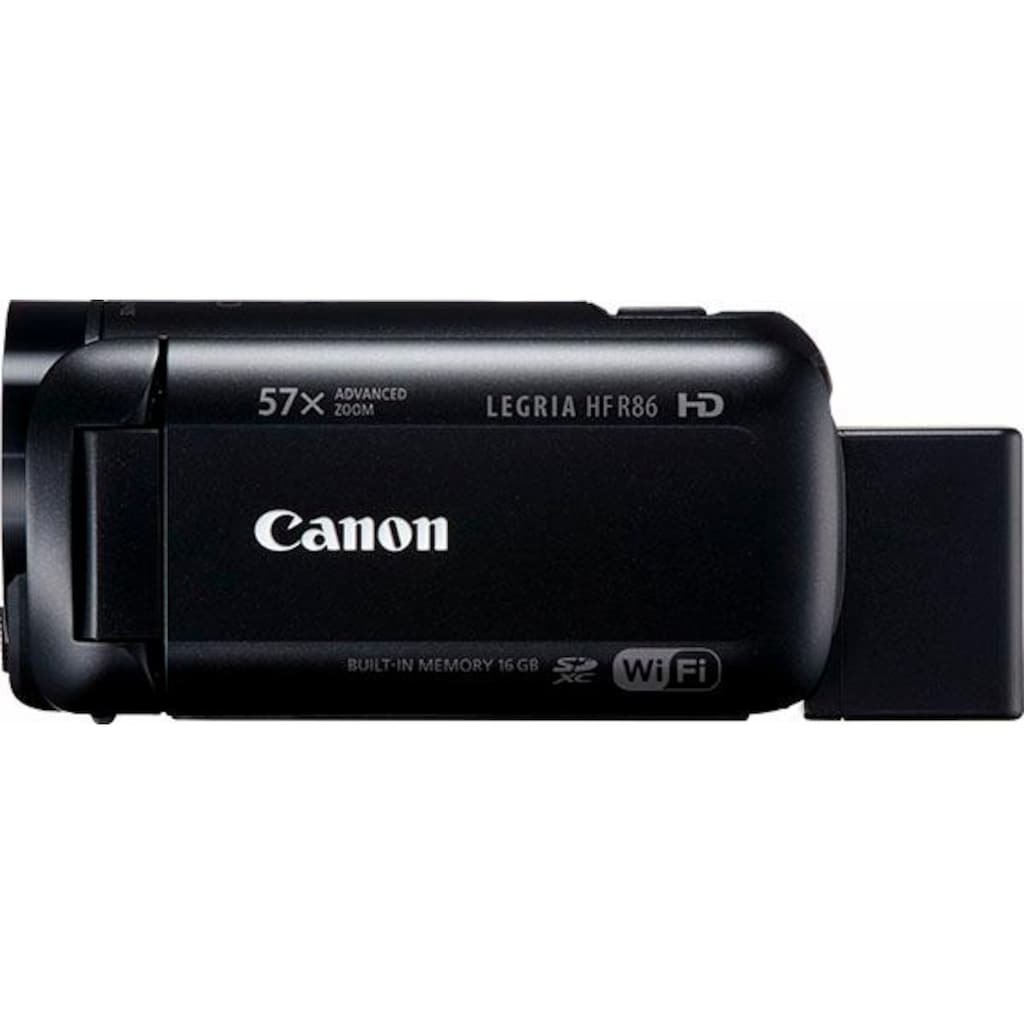 Canon Camcorder »HF-R86«, Full HD, NFC-WLAN (Wi-Fi), 32x opt. Zoom, Optischer Intelligent IS Zoom-Assistent Bildprozessor DIGIC DV 4