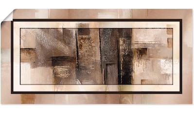 Artland Wandbild »Quadrate - abstrakt 1«, Muster, (1 St.), in vielen Größen & Produktarten - Alubild / Outdoorbild für den Außenbereich, Leinwandbild, Poster, Wandaufkleber / Wandtattoo auch für Badezimmer geeignet kaufen