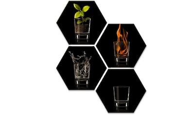 Wall-Art Mehrteilige Bilder »The Four Elements Vier Elemente«, (Set, 4 St.) kaufen