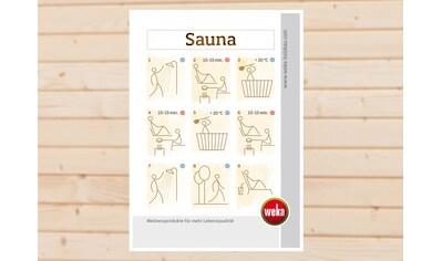 WEKA Sauna - Baderegeltafel kaufen