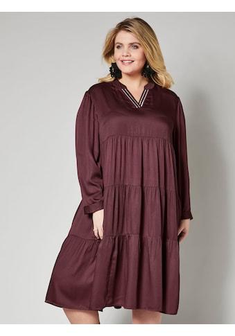 Angel of Style by Happy Size Kleid mit gerüschten Stufen kaufen