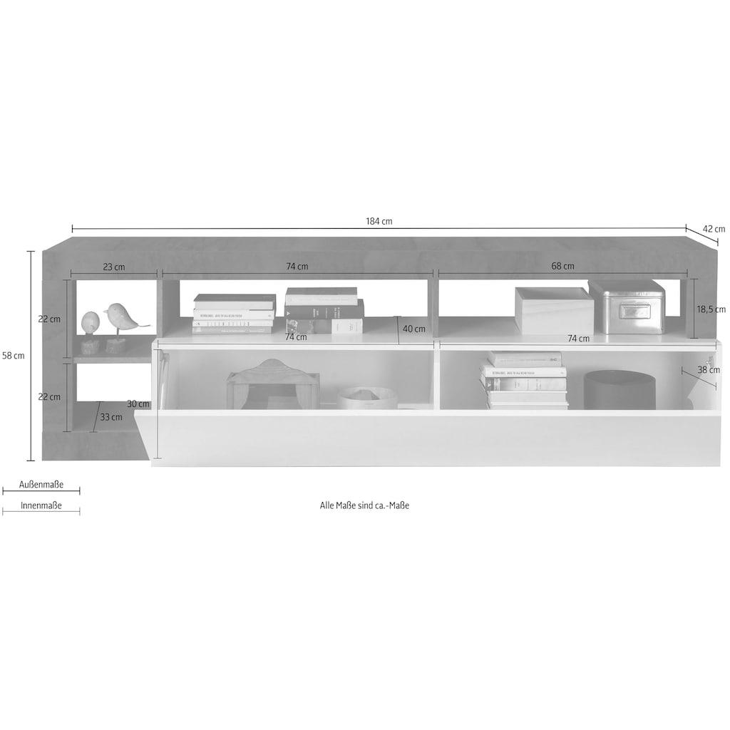 LC Lowboard »Hamburg«, Breite 184 cm