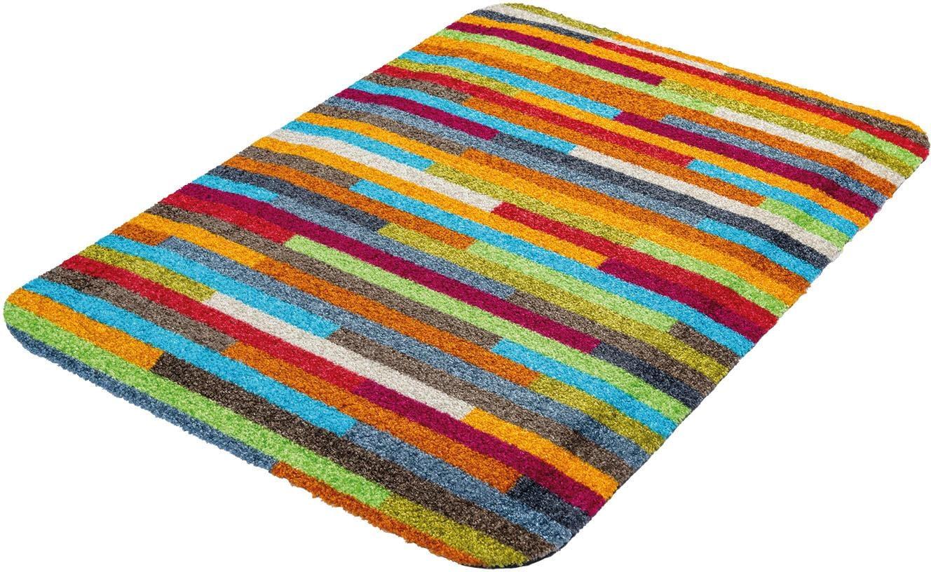 Teppich Mikado Stripes wash+dry by Kleen-Tex rechteckig Höhe 19 mm gedruckt