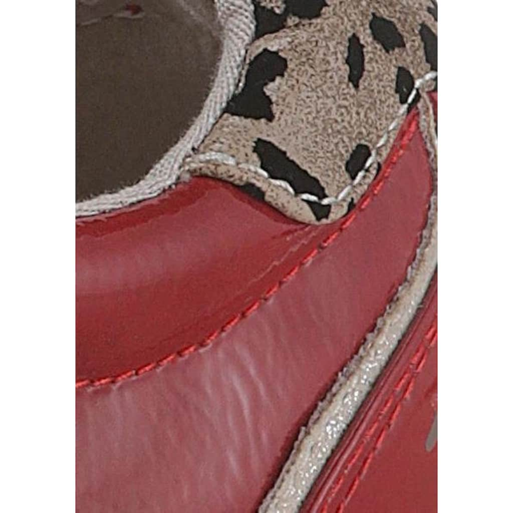 Mustang Shoes Plateausneaker, mit Leo-Besatz