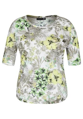 Thomas Rabe T-Shirt, mit floralem Allover-Muster und Rundhals kaufen