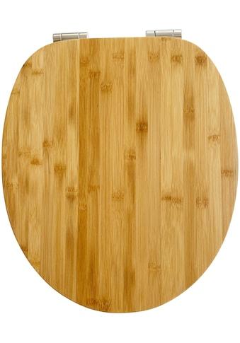 ADOB WC-Sitz »Bambus dunkel«, mit Absenkautomatik, geeignet für alle handelsüblichen WC's kaufen
