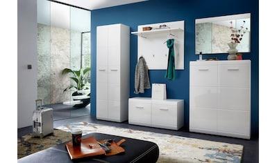 GERMANIA Garderoben-Set »Adana«, (Set, 5 St.), Farbe weiß mit Hochglanz Fronten kaufen