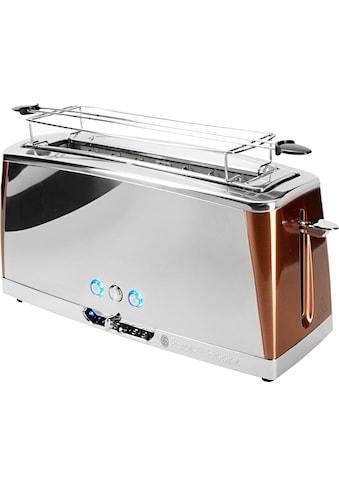 RUSSELL HOBBS Toaster »Luna Copper Accents 24310-56«, 1 langer Schlitz, für 2... kaufen