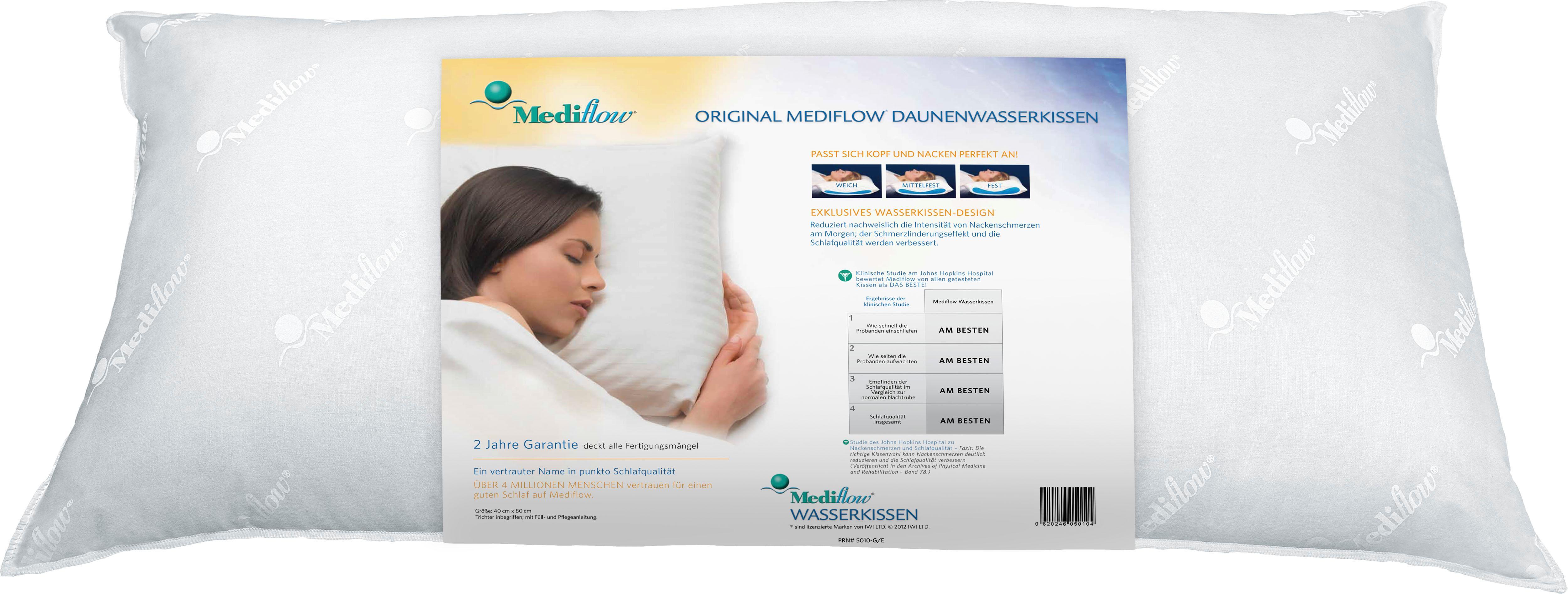 Wasserkissen Mediflow Original Daunenwasserkissen 5011 40x80cm Mediflow Fullung 60 Gansedaunen 40 Gansefedern Bestellen Baur