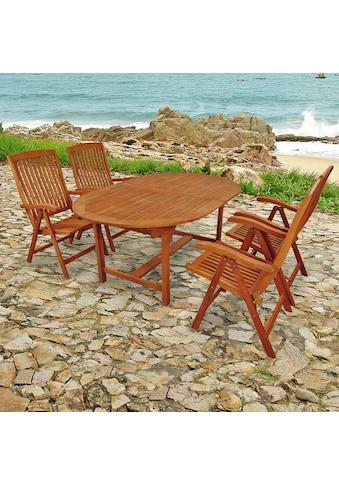 indoba Gartenmöbelset »Sun Flair«, (5 tlg.), Gartenset - IND-70000-SFSE5 kaufen