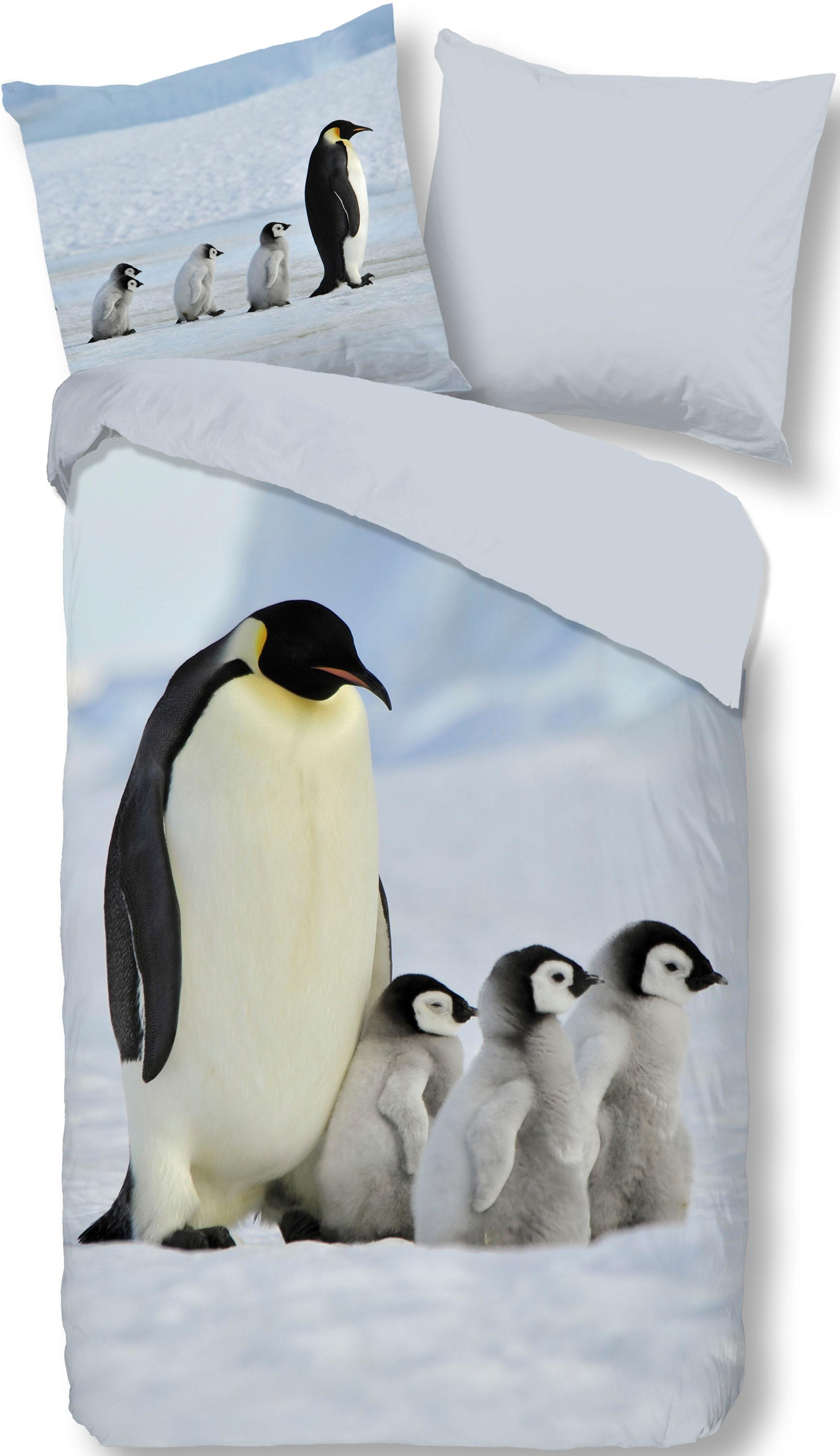 Wendebettwäsche Pinguins good morning