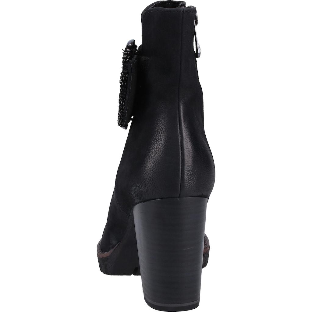 MARCO TOZZI Stiefelette »Nubukleder«