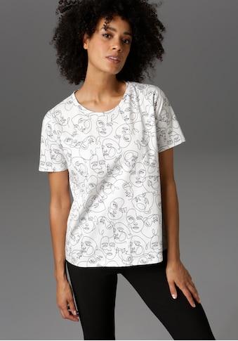 Aniston CASUAL T-Shirt, mit abstrakten Gesichtern bedruckt - NEUE KOLLEKTION kaufen