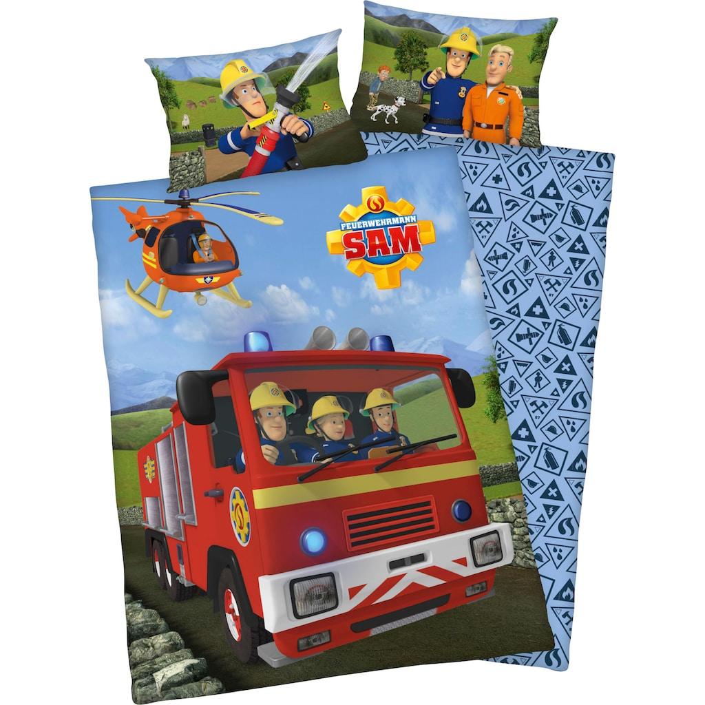 """Feuerwehrmann Sam Babybettwäsche »Feuerwehrmann Sam«, mit tollem """"Feuerwehrmann Sam"""" Motiv"""