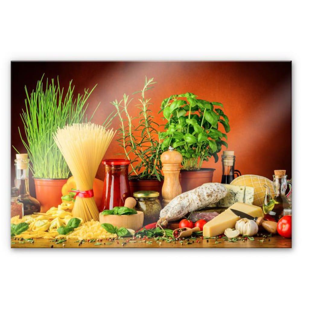 Wall-Art Küchenrückwand »Spritzschutz Italienisch Kochen«