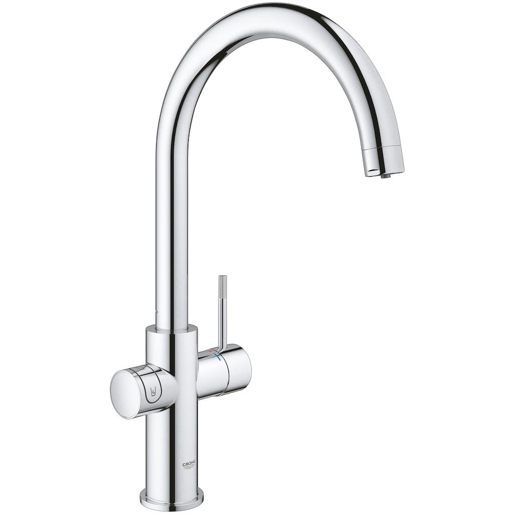 Grohe Küchenarmatur »Blue Home C-Auslauf Starter Kit«, Trinkwasser Still, Medium oder sprudelnd, App steuerbar