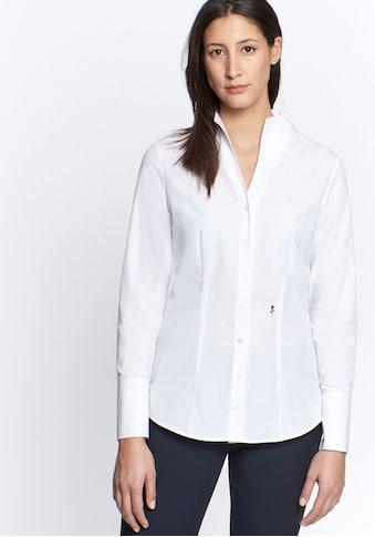 seidensticker Klassische Bluse, aus bügelfreiem Popeline, mit Kelchkragen kaufen