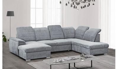 mokebo Wohnlandschaft »Jeremy«, Sofa in U-Form mit verstellbaren Kopfteilen, wahlweise... kaufen