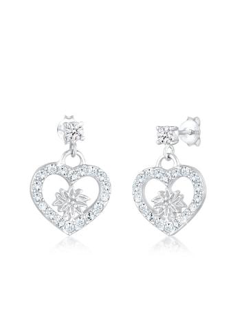 Elli Paar Ohrhänger »Edelweiss Herz Swarovski® Kristalle 925 Silber« kaufen
