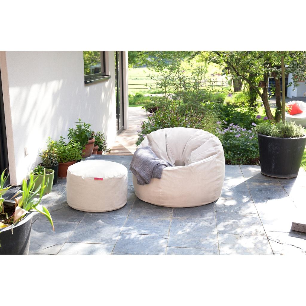 OUTBAG Sitzsack »Donut Canvas washed«, wetterfest, für den Außenbereich, Ø: 90 cm