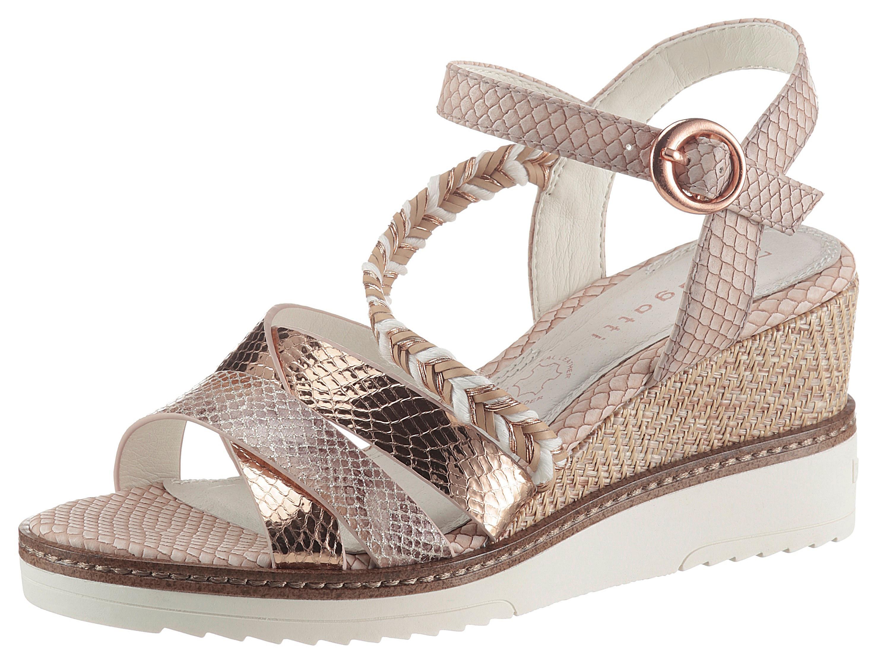 bugatti -  Sandalette ESRA EVO, mit angesagter Reptilienprägung