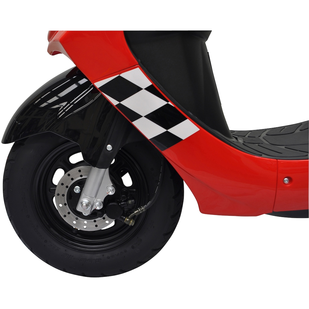 Alpha Motors Mofaroller »Cityleader«, 2,2 PS, 50 ccm, 25 km/h, rot inkl. Topcase