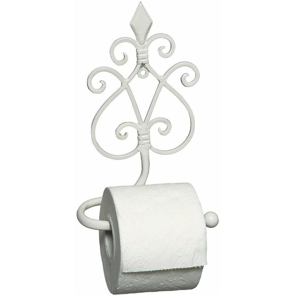 Ambiente Haus Toilettenpapierhalter »Antik«, weiß