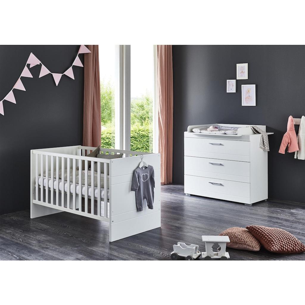 arthur berndt Babymöbel-Set »Liene«, (Spar-Set, 2 St.), mit Kinderbett und Wickelkommode; Made in Germany