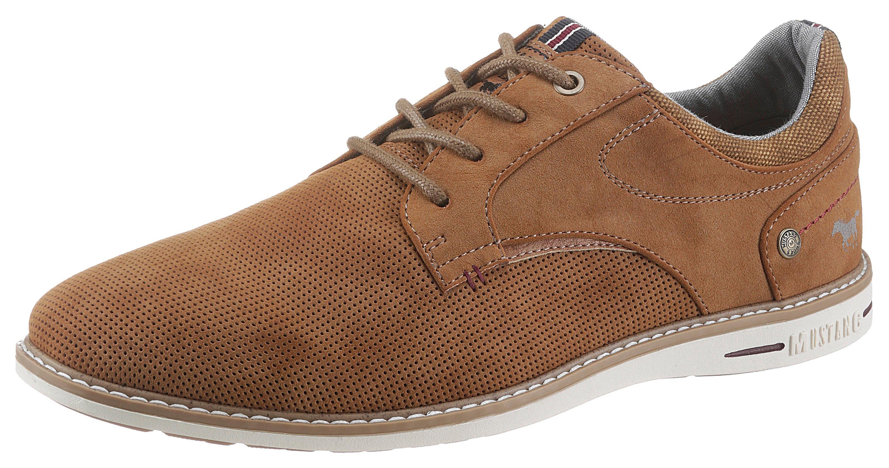 mustang shoes -  Schnürschuh, mit gepolstertem Schaftrand