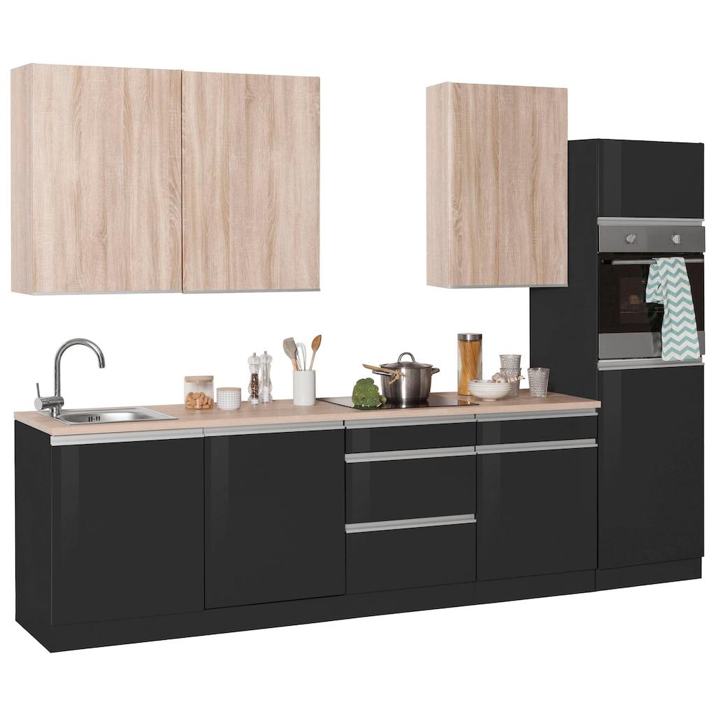 HELD MÖBEL Küchenzeile »Ohio«, ohne E-Geräte, Breite 300 cm