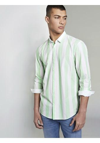 TOM TAILOR Denim Langarmhemd »Popeline-Hemd mit Musterung« kaufen