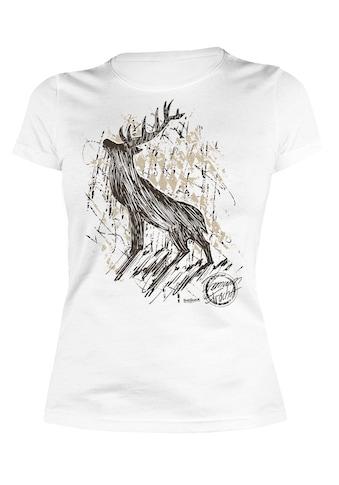 Der Trachtler T - Shirt mit detailliertem Print »Hirsch Premium« kaufen