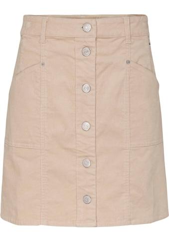 Tommy Jeans Cordrock »TJW CORD BUTTON THRU MINI SKIRT«, in modischer Cordoptik kaufen