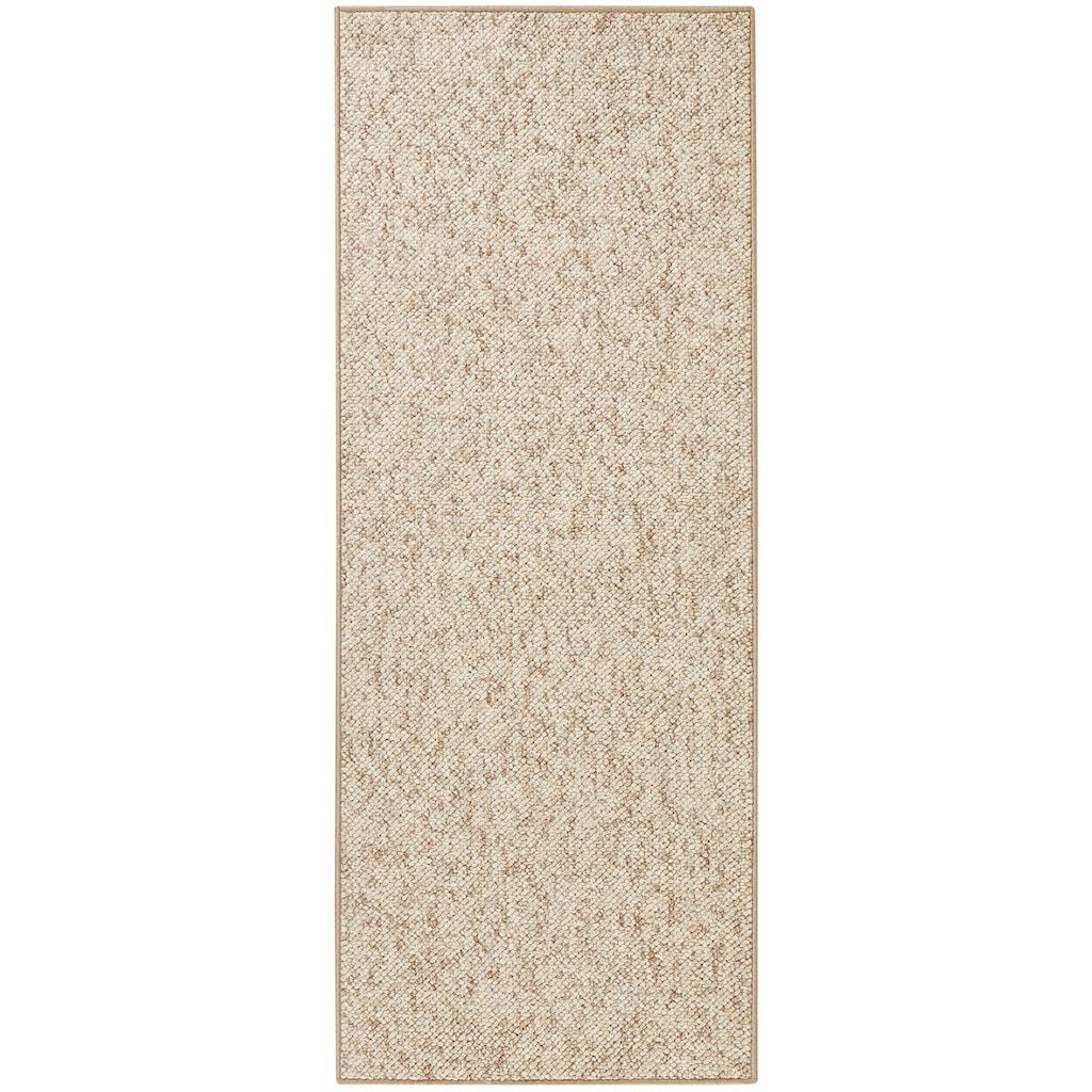 BT Carpet Läufer »Wolly 2«, rechteckig, 12 mm Höhe, Woll-Optik, Hoch-Tief-Effekt