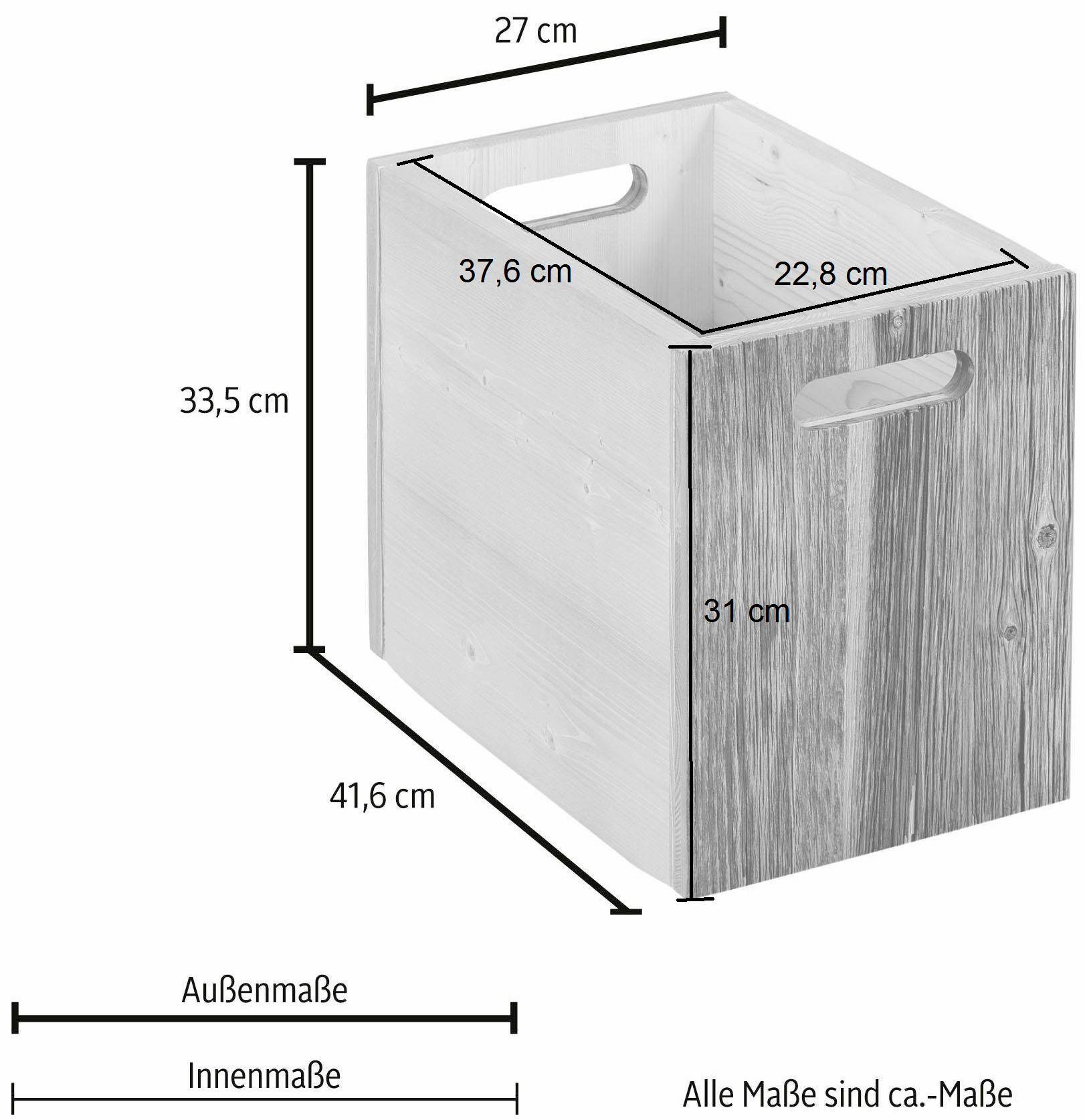 Home affaire Aufbewahrungskiste Wohnen/Möbel/Zubehör für Möbel/Zubehör für Regale