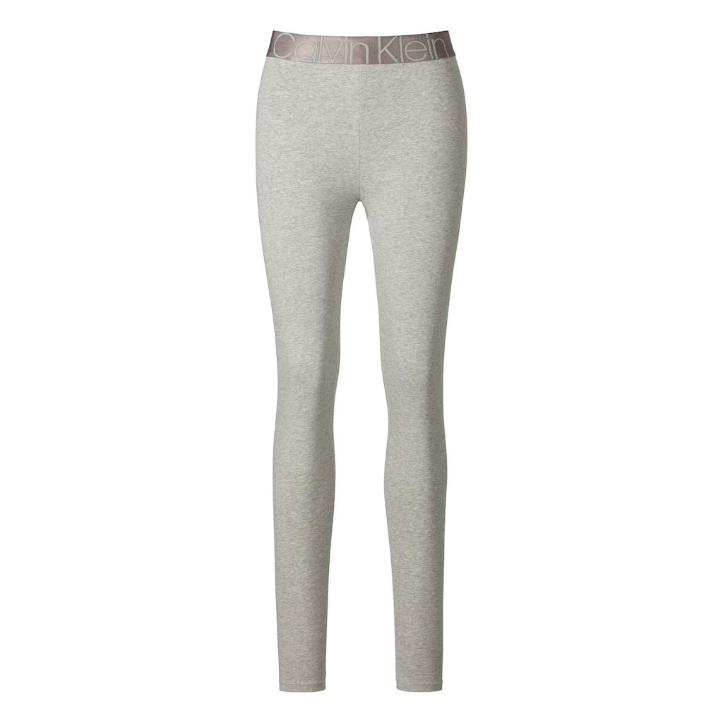 Calvin Klein Leggings, mit aufgesetzter Tasche und eingewebtem Logo im Bund