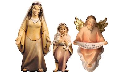 ULPE WOODART Krippenfigur »Hirtin mit Hirtenjunge und Engel«, zur Komet Krippe,... kaufen