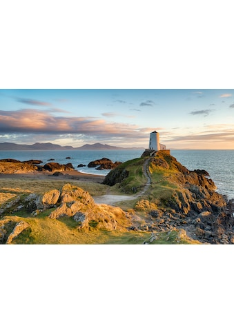 Papermoon Fototapete »Sonnenuntergang bei Ynys Llanddwyn«, Vliestapete, hochwertiger... kaufen