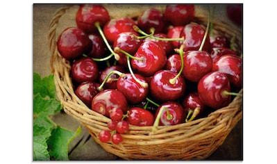 Artland Glasbild »Frische Kirschen im Korb«, Lebensmittel, (1 St.) kaufen