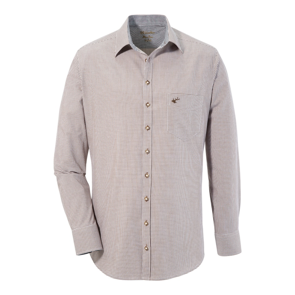 OS-Trachten Trachtenhemd, im Allover Karodesign