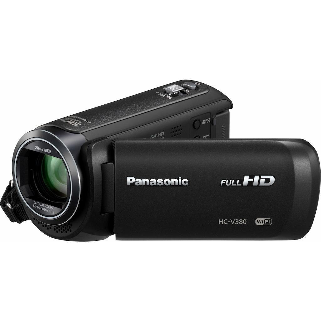 Panasonic Camcorder »HC-V380EG-K«, Full HD, WLAN (Wi-Fi), 50x opt. Zoom, Bildstabilisator