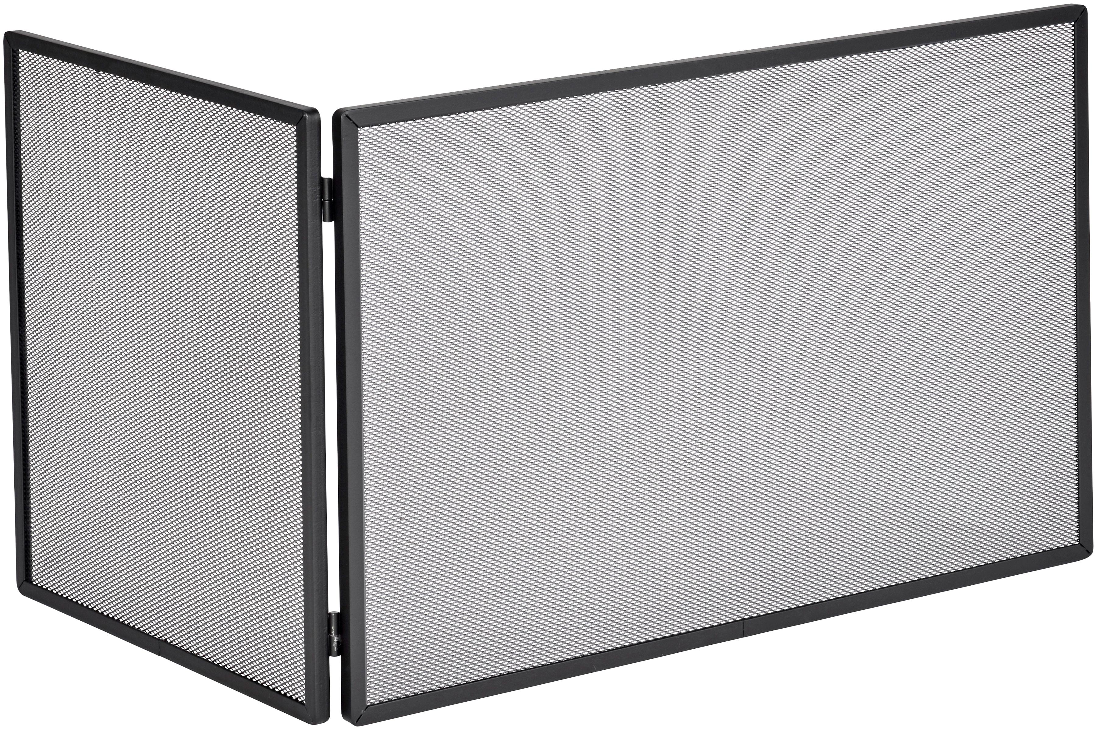 Firefix Funkenschutzgitter, mit Gittergeflecht, 45 x 50 22 cm (BxHxL) schwarz Funkenschutzgitter Kamin Öfenzubehör Heizen Klima