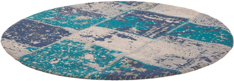 Teppich Matrix 110 Kayoom rund Höhe 7 mm handgewebt
