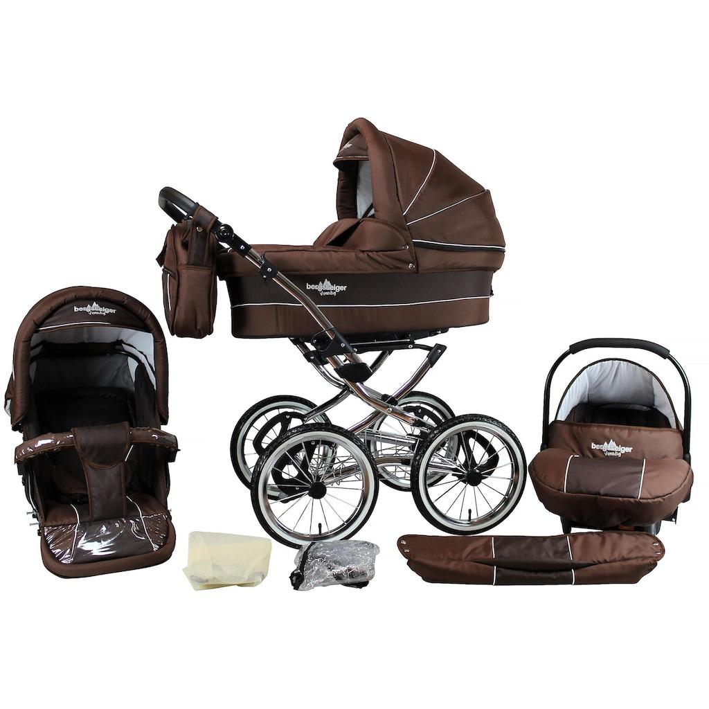 bergsteiger Kombi-Kinderwagen »Venedig, chocolate, 3in1«, 15 kg, Made in Europe; Kinderwagen