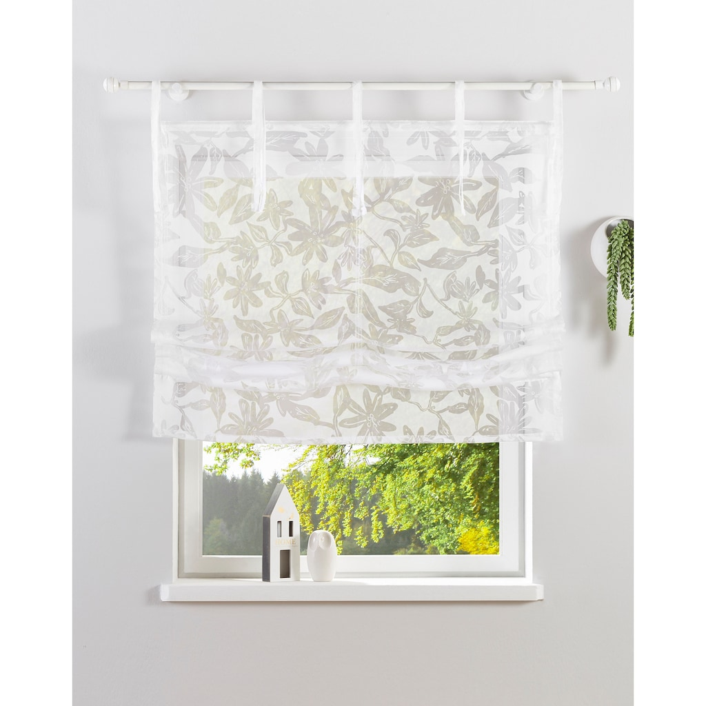 Guido Maria Kretschmer Home&Living Raffrollo »Glen«, mit Bindebänder