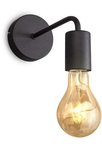 B.K.Licht Wandleuchte, E27, 1 St., Wandlampe, 1 flammige Vintage Lampe, Industrial Design, Retro Lampe, Stahl, Rund, E27, ohne Leuchtmittel kaufen