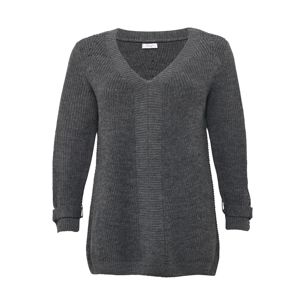 Sheego V-Ausschnitt-Pullover, im Mustermix