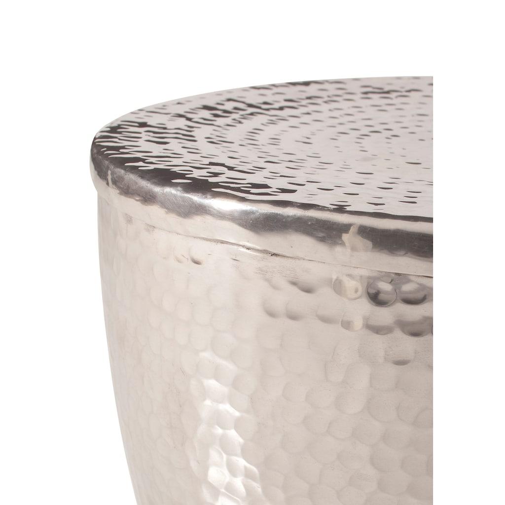 Home affaire Beistelltisch »Alui«, aus schönem Aluminium in Hammerschlag-Optik, Höhe 41 cm