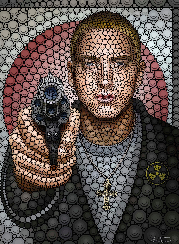 Vliestapete Ben Heine Circlism: Eminem Wohnen/Wohntextilien/Tapeten/Fototapeten/Fototapeten Kunst